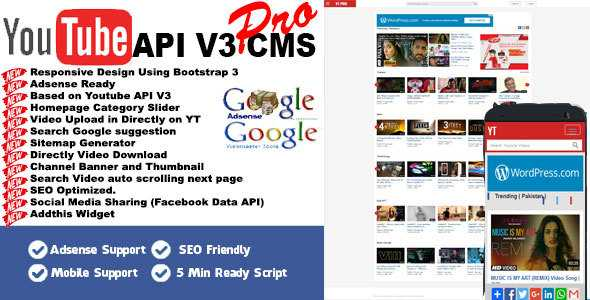 Download-S1] Youtube API V3 CMS PRO - ThemeDe