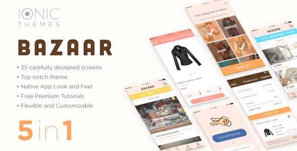 Download-S1] BAZAAR - Ionic Multi App Template (with