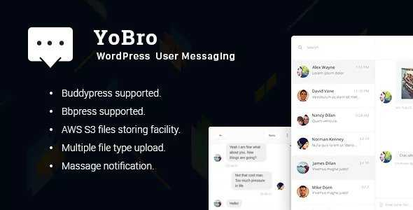 Download-S1] YoBro v2 0 - WordPress Private Messaging Plugin
