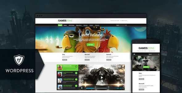 Download-S2] Games Zone v1 0 4 - Gaming WordPress Theme