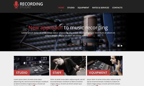 Download-S2] Recording Studio - Templatemonster Responsive